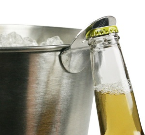 Metal Beer Bucket with Bottle Opener Attached UK Pub Bar